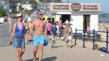 Felixstowe has been packed with visitors this week as the scorching temperatures continue Picture: