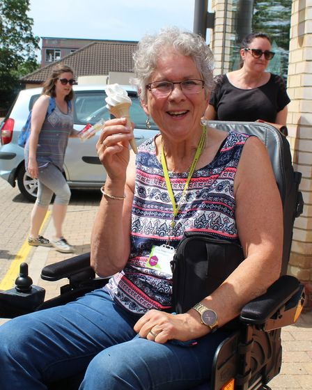 Staff, volunteers and patients at St Elizabeth Hospice were given free ice cream today by local busi