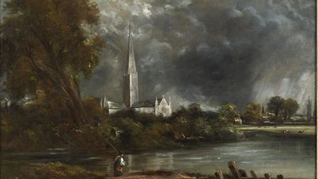 Salisbury Cathedral from the Meadows by John Constable (1776 – 1837), part of the Masters of the Gol