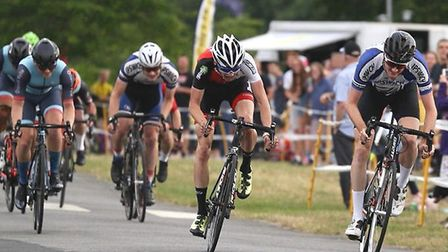 William Hughes wins the men's supporting race at Trinity Park. Picture: MICK WARD