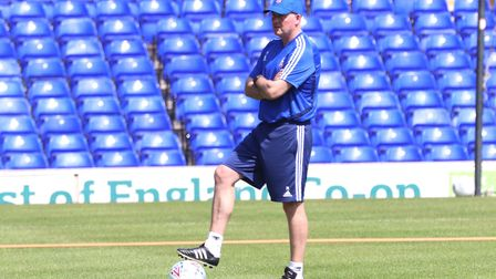 Paul Lambert during the Ipswich Town open day training Picture: ROSS HALLS