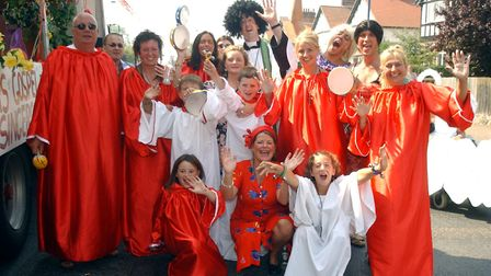 There were plenty of colourful costumes at the 2003 Felixstowe Carnival. Picture: ARCHANT LIBRARY