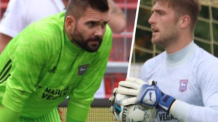 Bartosz Bialkowski and Tomas Holy are vying for Ipswich Town's No.1 spot. Picture: ROSS HALLS