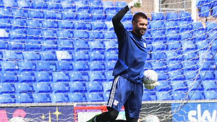 Town goalkeeper Bartosz Bialkowski pictured during the open day training session Picture: ROSS HALLS