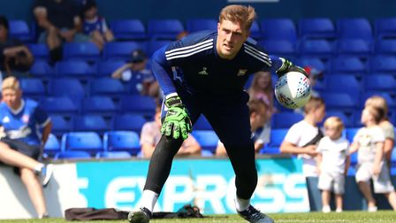 Town goalkeeper Tomas Holy pictured during the open day training session Picture: ROSS HALLS