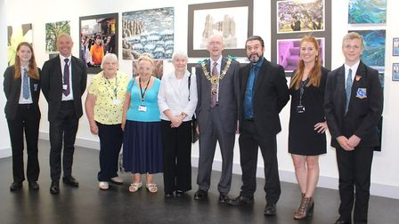 Sudbury mayor Robert Spivey was among those who attended the exhibition Picture: GOODERHAM PR