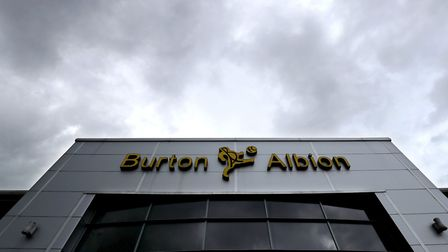 General view of the entrance to the Pirelli Stadium, home of Burton Albion. Picture: PA