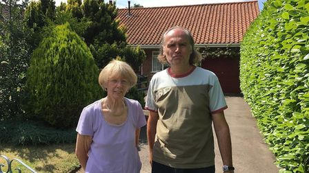 Janice and Andrew Nunn appealed for help with the search for Brian on July 26 Picture: TOM POTTER