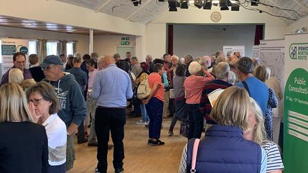 The largest number of people attended the consultation at Grundisburgh. Picture: SUFFOLK COUNTY COUN