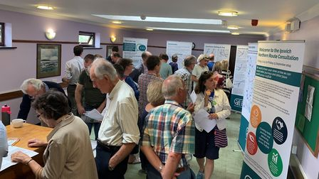 Visitors to the consultation event at Woodbridge Library. Picture; SUFFOLK COUNTY COUNCIL
