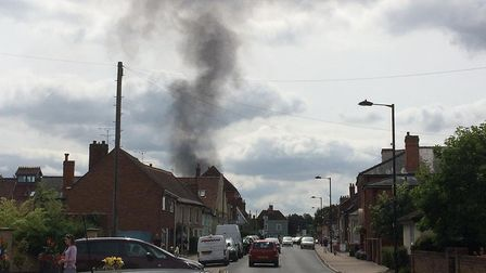 Smoke has been spotted from miles around Picture; NANCY HOWLETT