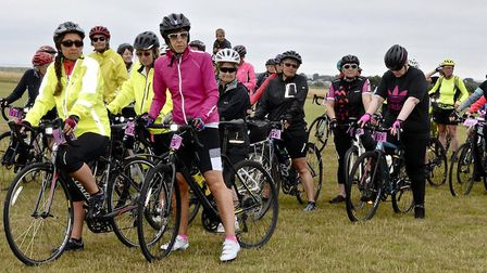 The 2019 Women on Wheels cycle ride in Southwold. Picture: NICK MARCHANT AND CATHY RYAN