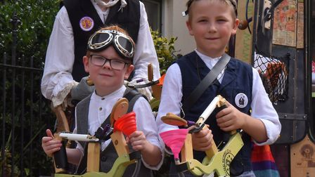 Youngsters getting involved in the Steampunk Spectacular Picture: Jamie Honeywood