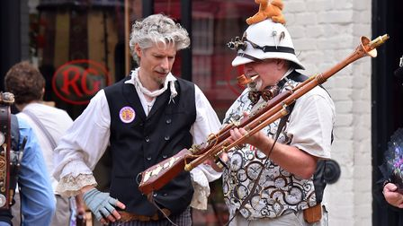 Enthusiasts gathered in Leison to enjoy all things Steampunk Picture: Jamie Honeywood