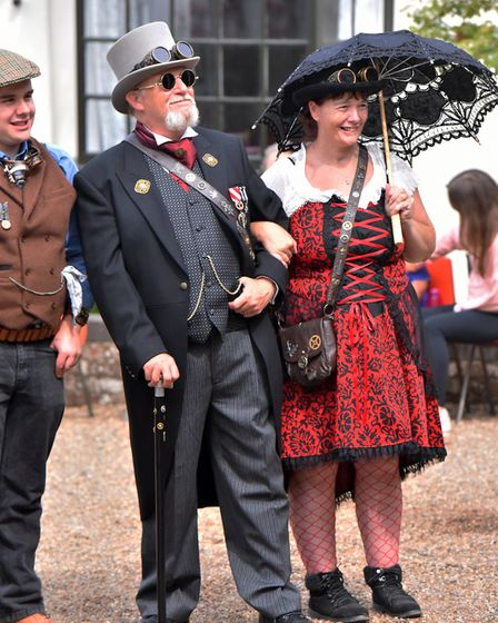 Guests enjoying the steampunk spectacular weekend at The Long Shop Museum Picture: Jamie Honeywood