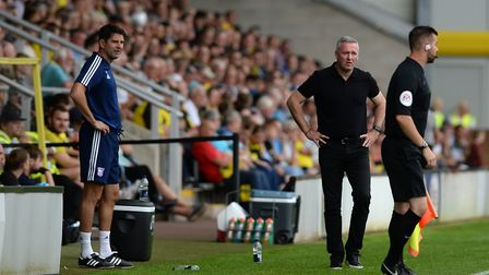 Paul Lambert gives the linesman a hard look at Burton Albion. Picture: PAGEPIX