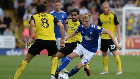 Flynn Downes was in good form at Burton Albion - Terry has high hopes for him this season. Picture: