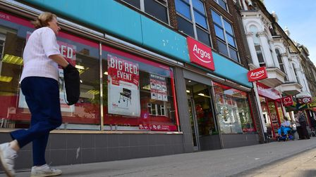 The Argos store in Lowestoft town centre before it closed a few years ago. It is one of several empt