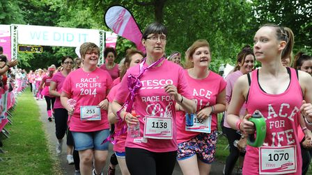 Events like Race for Life at Chantry Park show the strong community spirit in Ipswich. Picture: ARCH