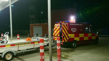 The water rescue team from Lowestoft have been called to Whaley Bridge Picture: SUFFOLK FIRE AND RES