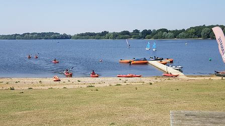 Family enjoying themselves at Alton Water, under the supervison of staff at the reservoir PICTURE: R