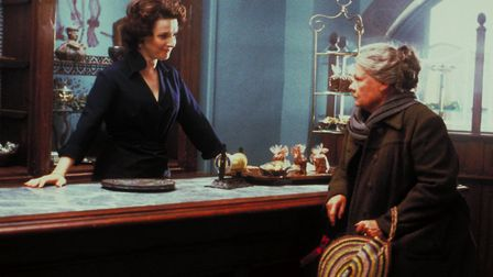 Juliette Binoche tempts Judi Dench with her sinfully delicious chocolate treats in Chocolat. Photo M