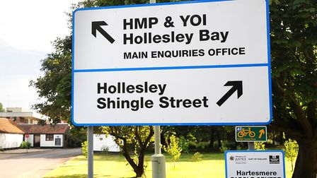 HM Prison Hollesley Bay was criticised by inspectors for its 'weak' public protection procedures Pic