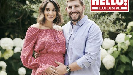 Laura Wright and her husband Harry Rowland appear in this week's edition of Hello! Magazine. Picture