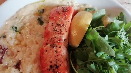 Roasted salmon fillet at the Cherry Tree Inn Picture: Nicola Warren