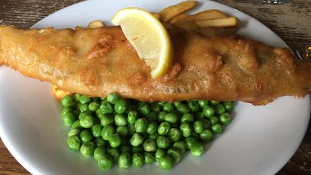Fish and chips at The Four Horseshoes Picture: Charlotte Smith-Jarvis