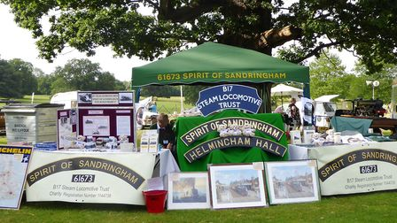 The stall of the B17 Trust at Helmingham Hall. Picture; BRIAN HALL/B17 TRUST