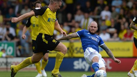 James Norwood, who led the front-line well at Burton, and should score goals galore for Town this se