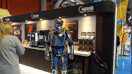 Primo the Robot from Cyber-Tech, who will be appearing at the East Anglian Festival Network Show at