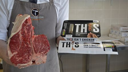 'THIS' vegan products will be stocked in Thurston Butchers, alongside its meat. Picture: KRIS SANDER