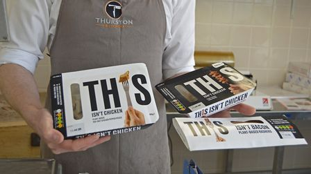 Alastair Angus, the owner of Thurston Butchers and the new 'THIS' vegan products they will be stocki
