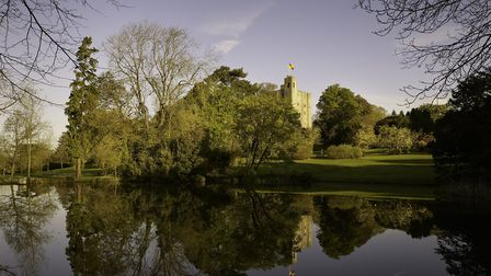 The castle is surrounded by 160 acres of beautiful gardens. Photo: Hedingham Castle.