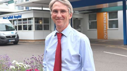 Dr David O'Reilly, consultant rheumatologist, has retired from West Suffolk Hospital Picture: WEST S