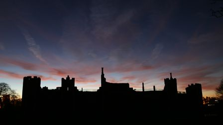 Sunset at Framlingham Castle, Ed's Castle on the Hill. Picture: Andy Greenacre