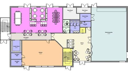 The ground floor plan for the new sixth form centre at Stowupland High School. Picture: CONCERTUS DE