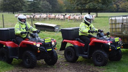 Police on quad bikes used in fighting rural crime Picture: DENISE BRADLEY
