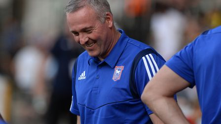 Paul Lambert smiling before the recent pre-season friendly at Notts County. Photo: Pagepix