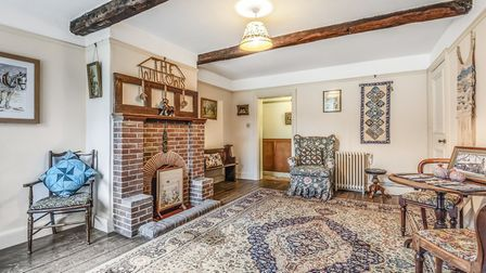 The property in Lackford, Bury St Edmunds has six bedrooms and backs onto a nature reserve. Picture: