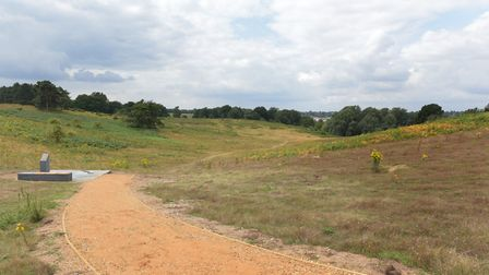 New paths have been created for visitors at Sutton Hoo Picture: SARAH LUCY BROWN