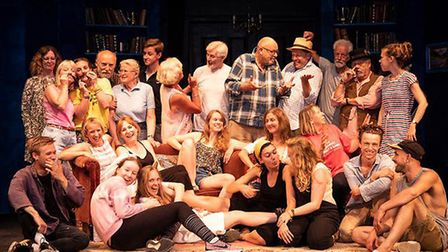 The cast and crew of Aldeburgh Summer Theatre who are performing Blithe Spirit at Aldeburgh's Jubile