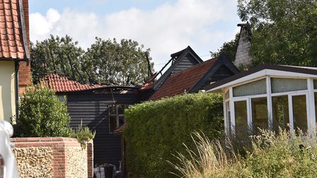 Neighbours have spoken of their shock after a major fire in Finningham Picture: SONYA DUNCAN