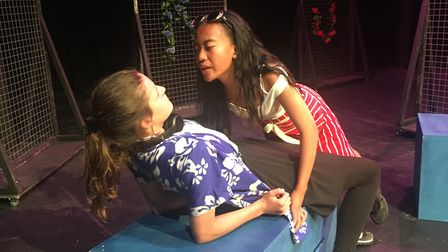 Year 9 pupils from Ormiston Sudbury Academy performing Act III of Romeo and Juliet Picture: ORMISTON