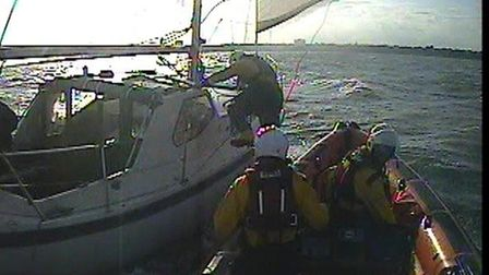 Clacton RNLI went to the aid of a 28-foot yacht that suffered a total power failure on August 6 Pict