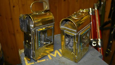 Pair brass box carriage lamps Picture: HERITAGE HORSES