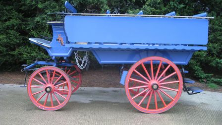 Charabanc shortly after extensive restoration Picture: HERITAGE HORSES
