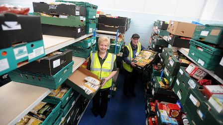 Volunteers at Colchester Foodbank, pictured in 2014 Picture: PHIL MORLEY